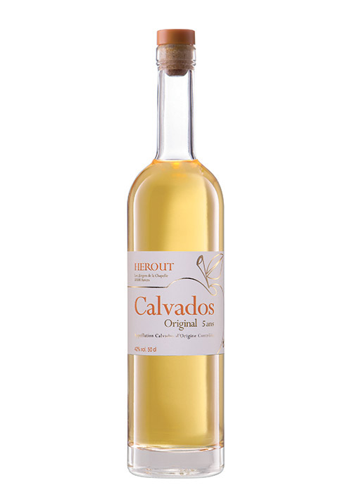 Bouteille de Calvados Original AOC 5 ans d'âge Hérout