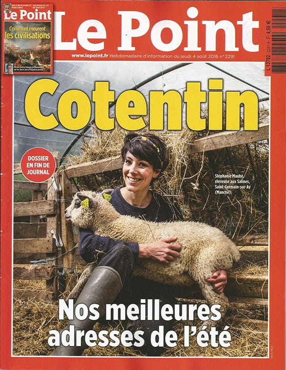Couverture du magazine Le Point sur le Cotentin