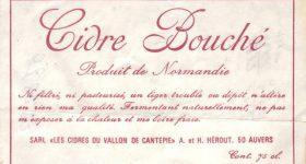Etiquette du Cidre Bouché de la cidrerie Hérout