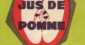 Ancienne étiquette du Jus de Pomme de la cidrerie Hérout