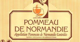 Ancienne étiquette du Pommeau de Normandie de la cidrerie Hérout