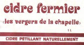 Ancienne étiquette du Cidre fermier de la cidrerie Hérout