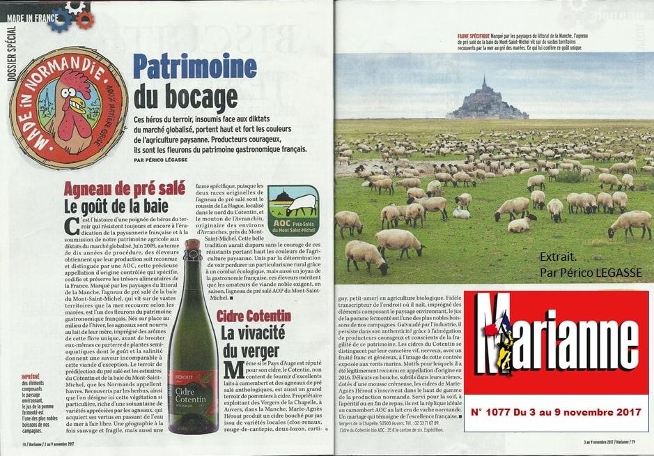 Article de Marianne sur le Cidre Cotentin AOC